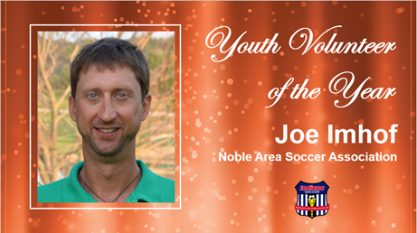 Youth Volunteer of The Year Joe Imhof